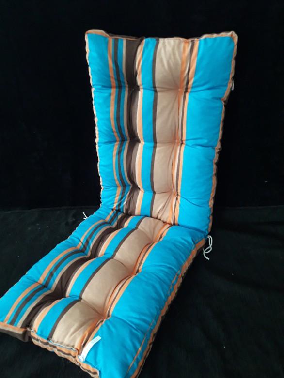 Poduszka na leżak 158/48 cm paski szerokie