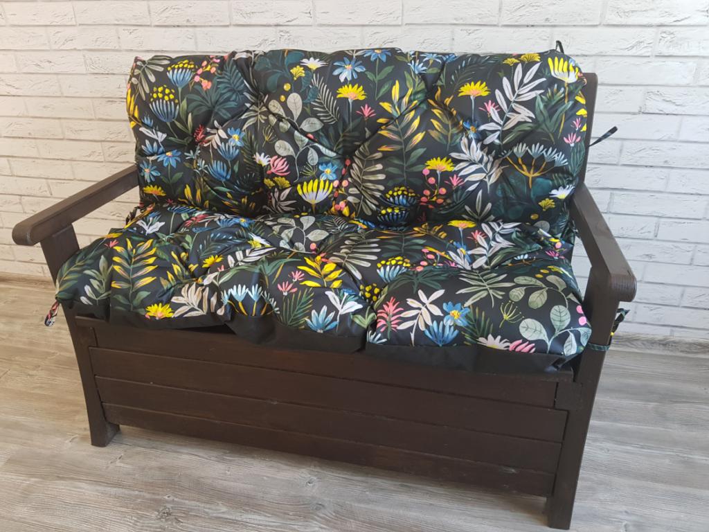Poduszka na ławkę ogrodową 100/60/50 cm DRUK