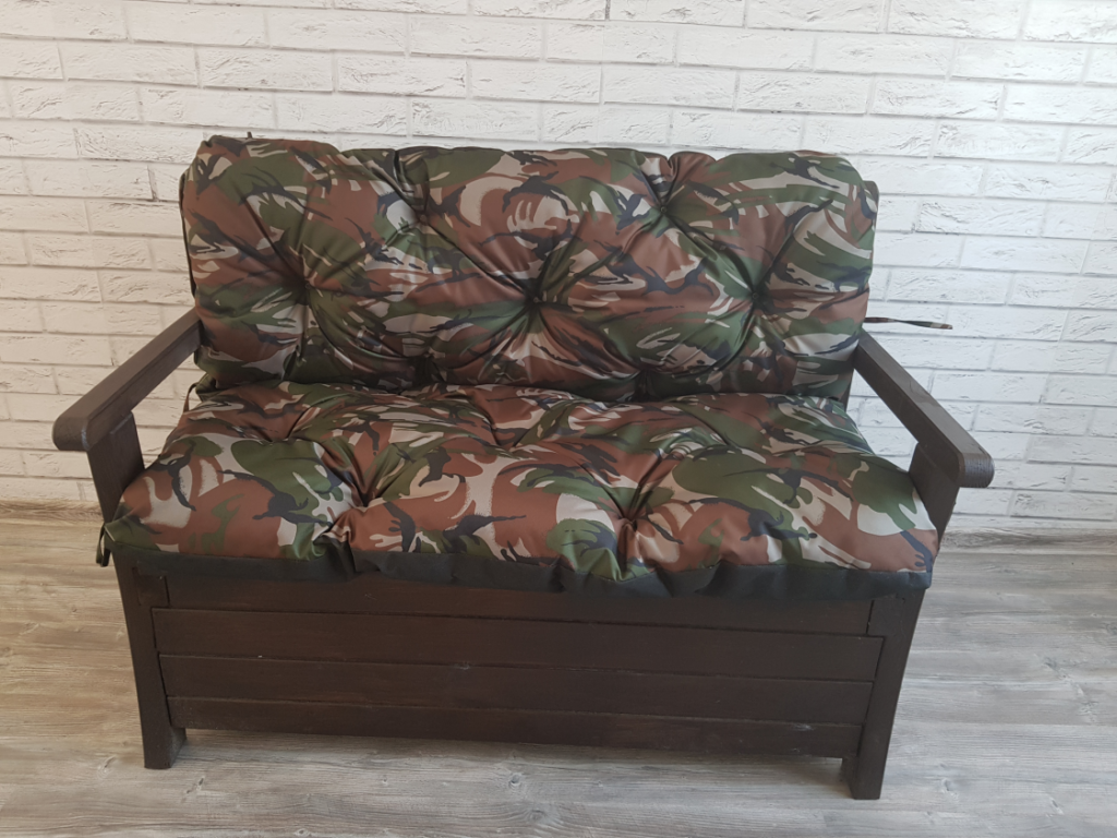 Poduszka na ławkę ogrodową 120/60/50 cm DRUK