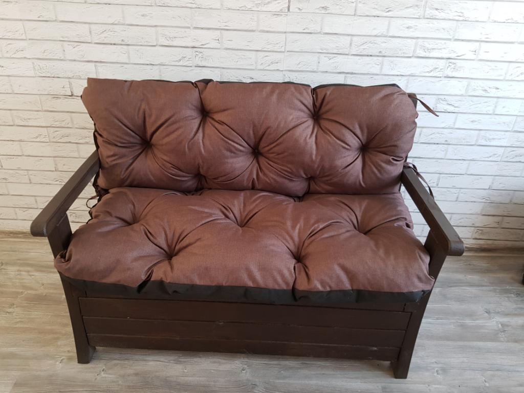 Poduszka na ławkę ogrodową 180/60/50 cm Art. 550 LEN