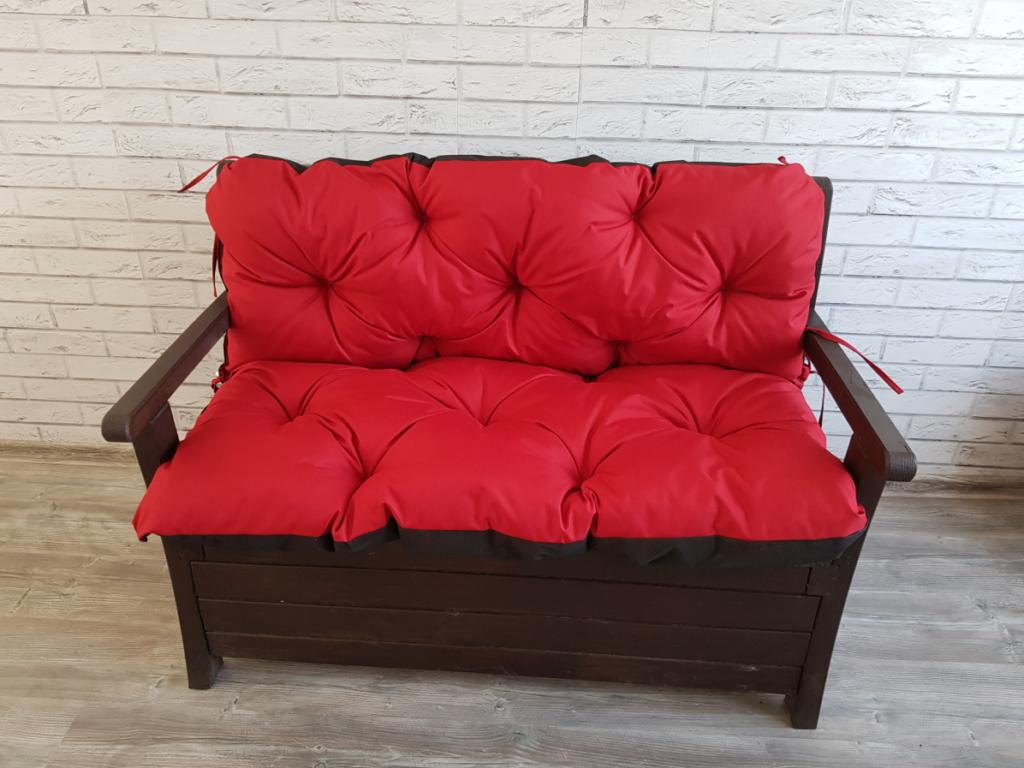 Poduszka na ławkę ogrodową 120/60/50 cm Art. 550 LEN