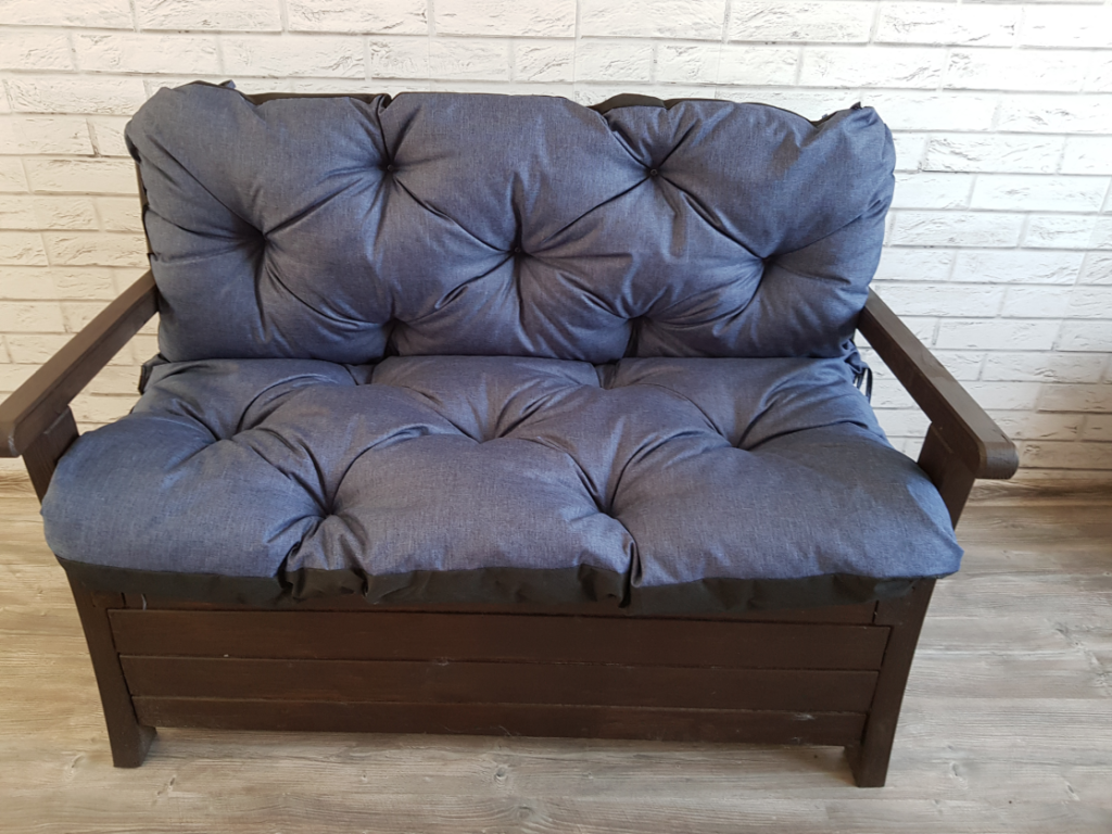 Poduszka na ławkę ogrodową 100/60/50 cm Art. 550 LEN
