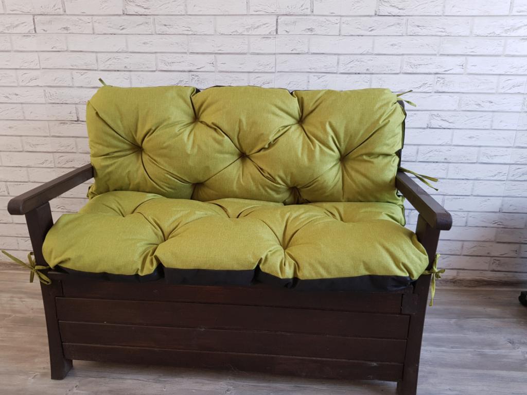 Poduszka na ławkę ogrodową 150/60/50 cm Art. 550 LEN