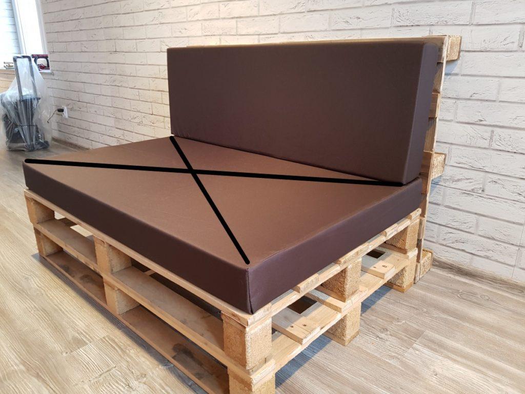 Poduszka na meble z palet, OPARCIE 120/40 cm , gąbka 10 cm ART. 500