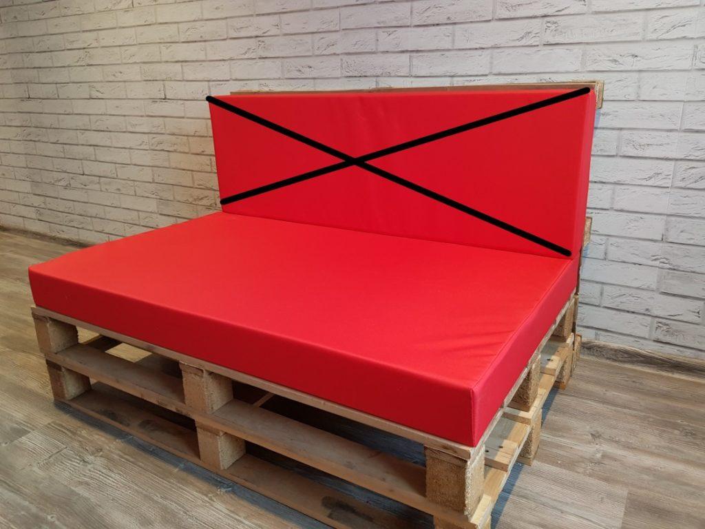 Poduszka na meble z palet, siedzisko 120/80 cm , gąbka 10 cm ART. 500